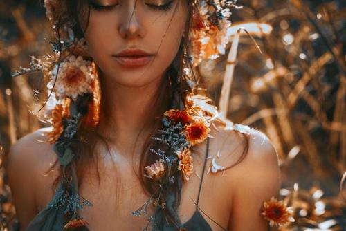 žena, priroda